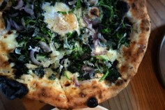 Brunch Pizza with Nettles and Pecorino Pizza with Farm Egg