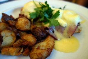 Eggs Benedict at The Girl and the Fig
