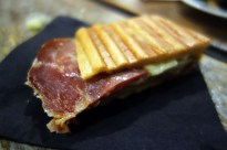 *Duck Confit and Country Ham Cubano with B&B Pickles and Serrano Chiles