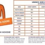 Lightweight Tech Hoodie Size Chart