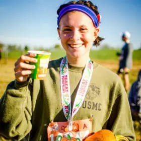 Apple cider at the finish line