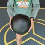 Tough Pumpkin lunge with medicine ball