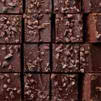 Raw Double Layer Chocolate Fudge with Cacao Nibs