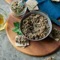 Roasted Mixed Mushroom and Walnut Pâté  (Paleo, Vegan)
