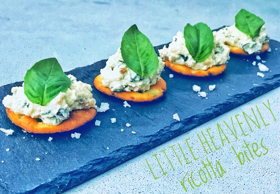 Ricotta cream starter - ways to use rye bread chips