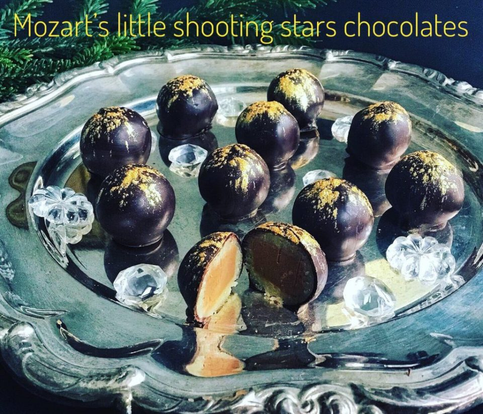 Mozart's little shooting stars chocolates - festive New Year's treats
