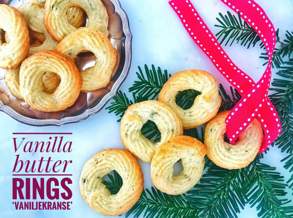 Vanilla butter cookies - or Danish Vaniljekranse