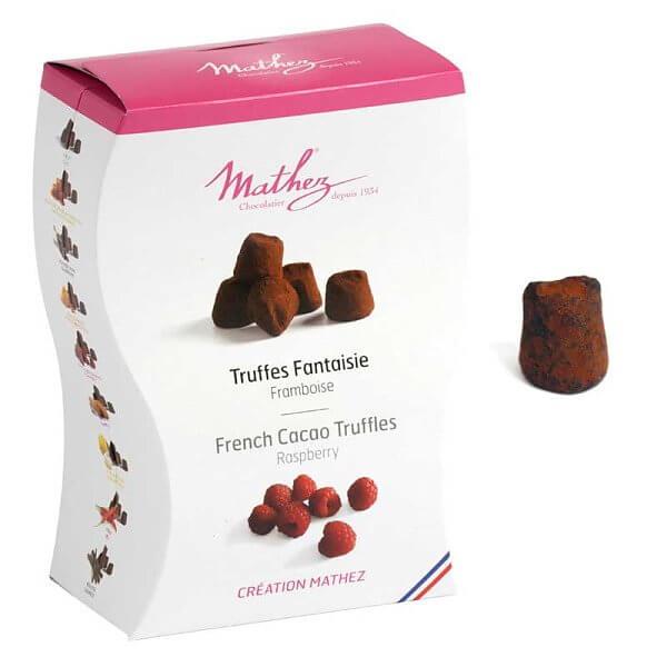 Send trøffelsjokolade fra Mathez