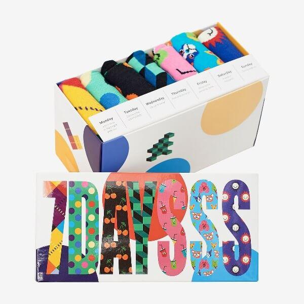 Gavepakke med morsomme sokker fra Happy socks