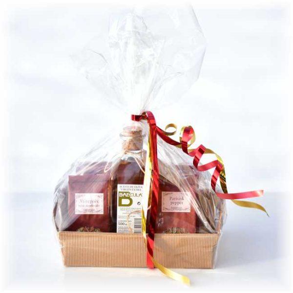 Fransk gavepakke med krydder og olje