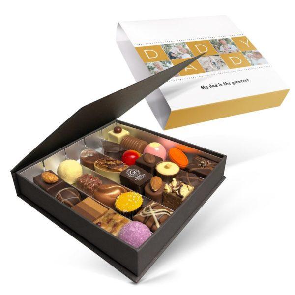 Send en personlig gavepakke med sjokolade