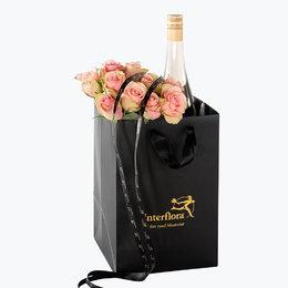 Send blomster på døra - 10 Vårroser i gavepose