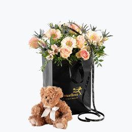 Send blomster på døra - Bamseklem