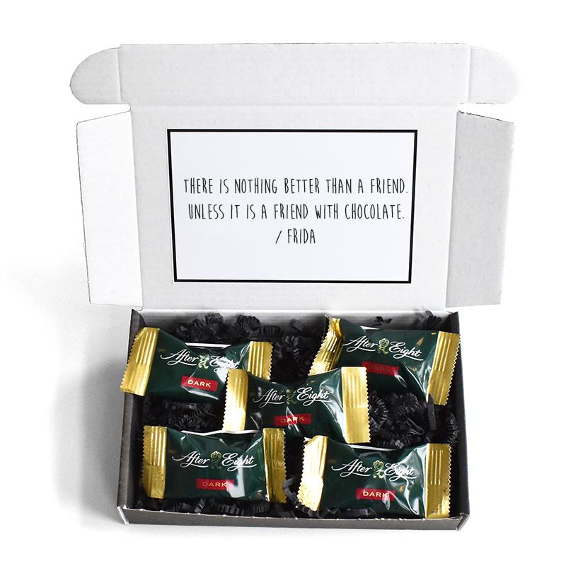 En liten hälsning: Chokladpraliner