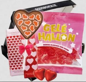 Den ultimata kärleksboxen med godis som säger jag älskar dig