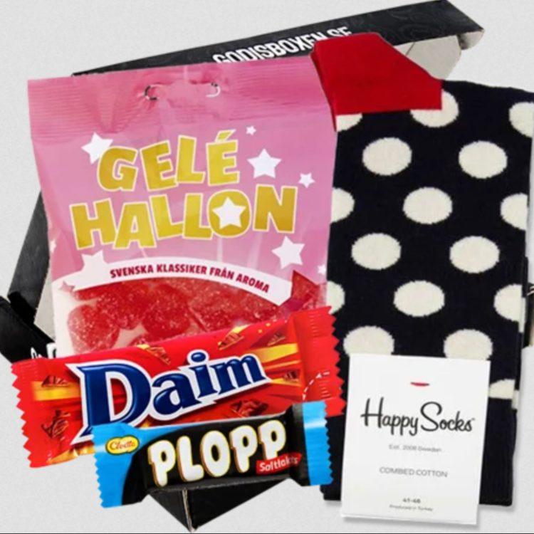 Presentbox happysocks med daim plopp mm