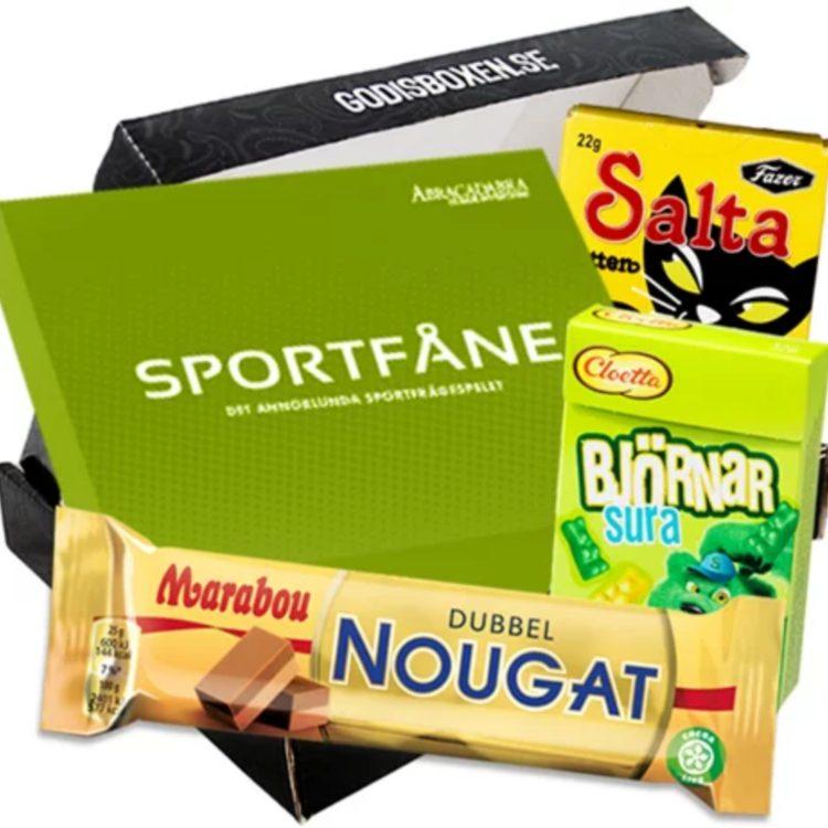 Presentbox sportfåne och annat gott