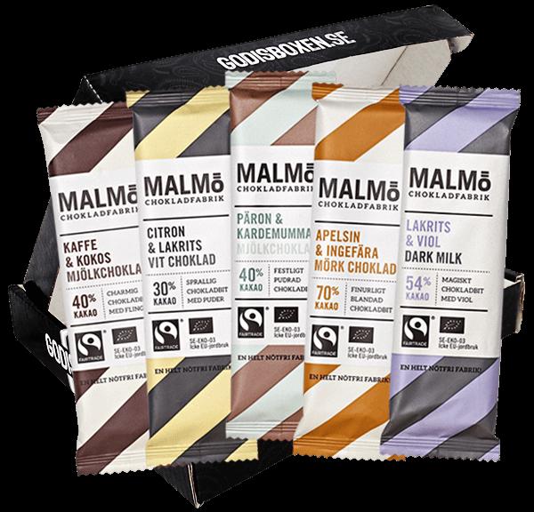 Skicka en box med Malmö chlokladfabrik