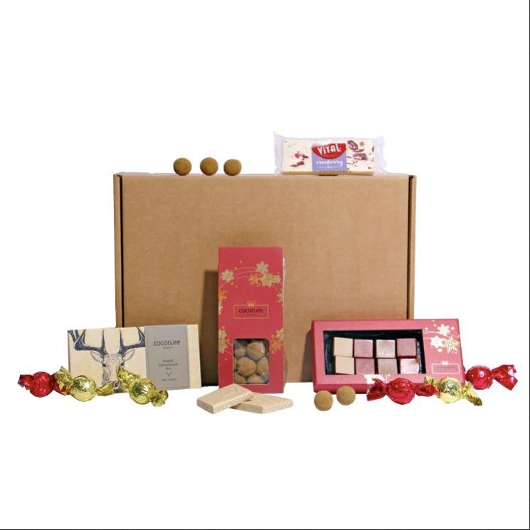 Presentbox till julen - julboxen är av mindre storlek