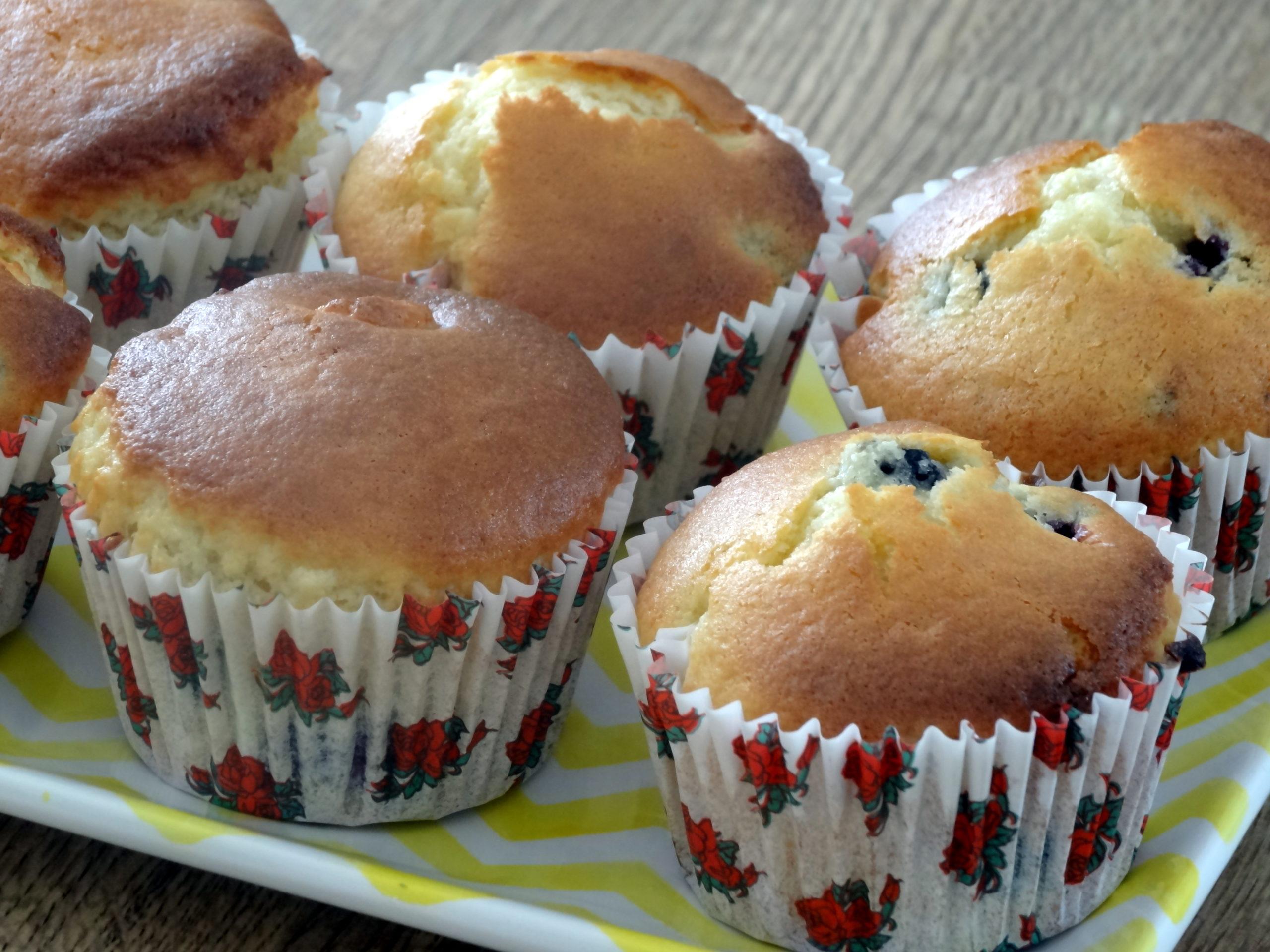 Photo de Muffin aux mûres et au chocolat blanc pour accéder au menu