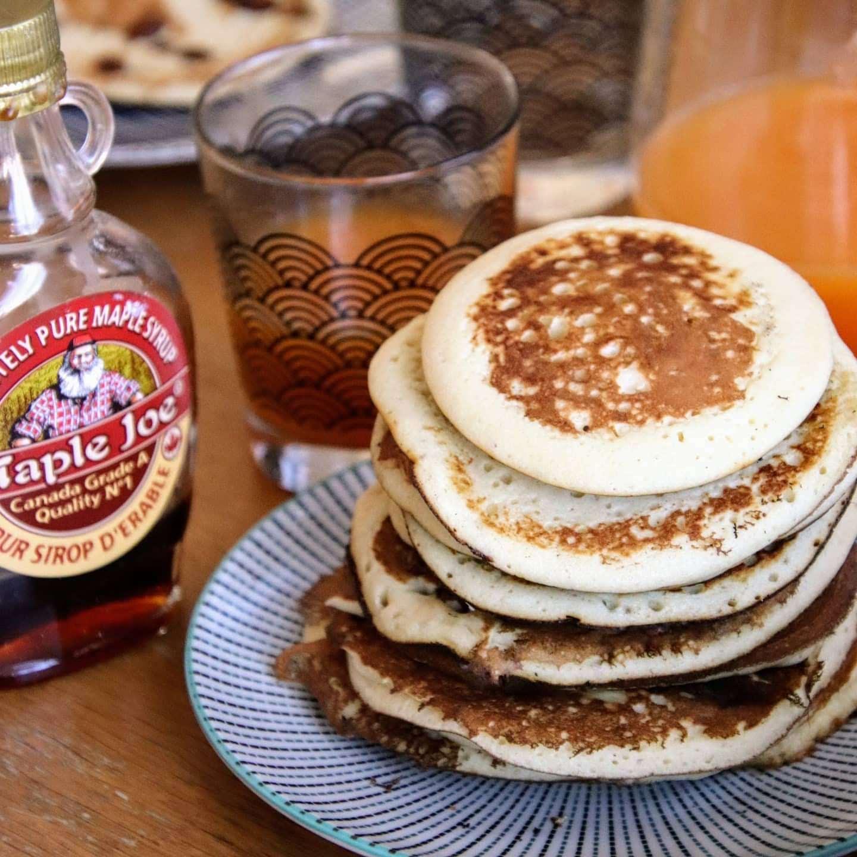 Photo de Pancake moelleux au pépite de chocolat pour accéder à la recette