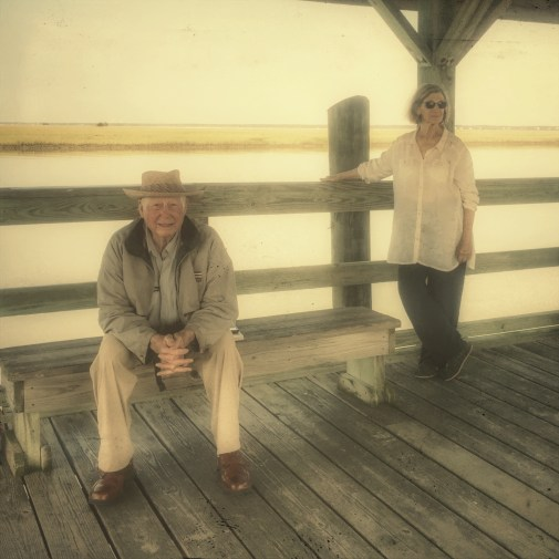 Tom and Jean at the ferry dock
