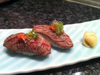 Wagyu Nigiri @ Sushi of Shiori