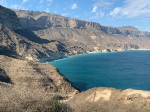 One of the many landscapes... you can see Fazayah beach - Dhofar, Oman