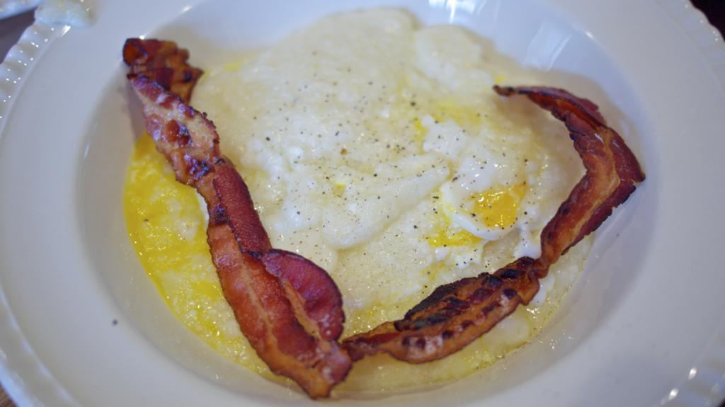 Grits and Eggs with a twist