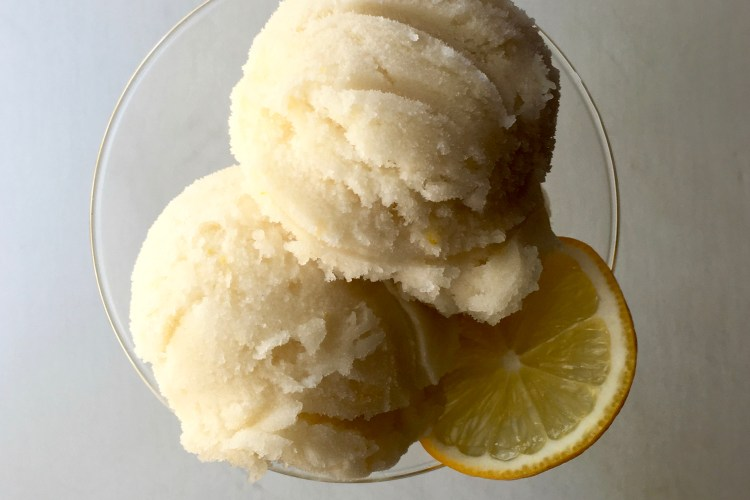 Meyer Lemon-Earl Grey Sorbet