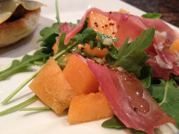 Cantaloupe, Prosciutto and Arugula Salad