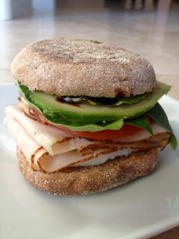 Turkey Avocado and Caprese Sandwich
