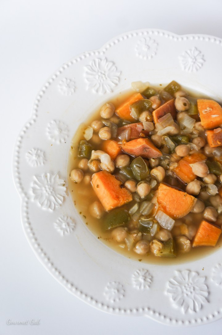 Gourmet Gab Cuban Garbanzo Bean Soup