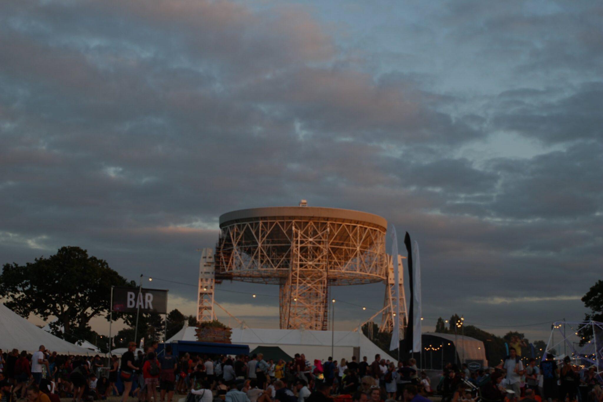 Lovell Telescope at night