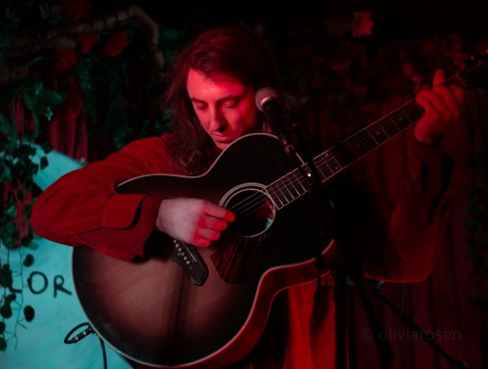 Luca Wilding on stage at Folklore