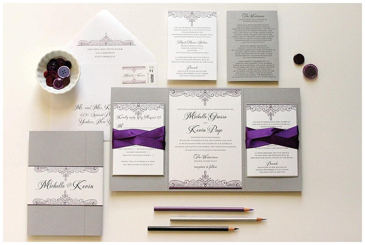 purple and silver wedding invitations purple and silver wedding