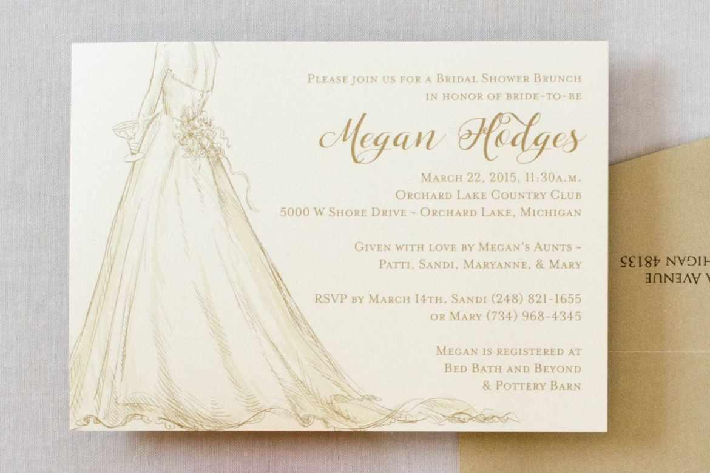 brunch wedding shower invitations