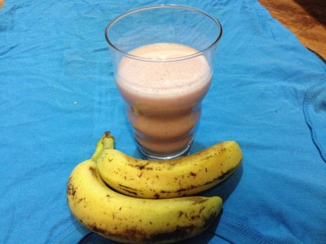Smoothie de yogur y fresas