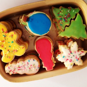 Receta de galletas navideñas glaseadas