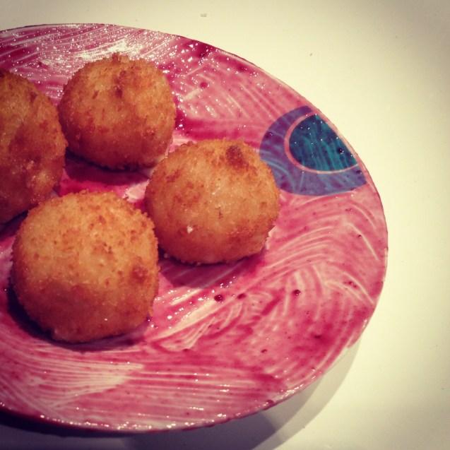 Receta Bolitas de queso de cabra fritas