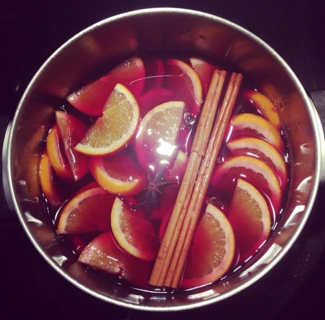 Receta de vino caliente especiado