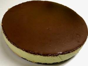 Receta de tarta de queso y aguacate con chocolate por encima