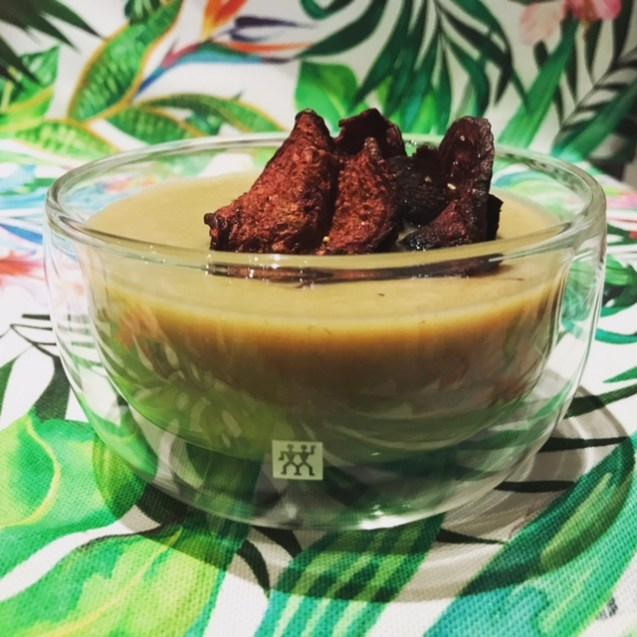 Receta de vichy suisse de puerro caramelizado