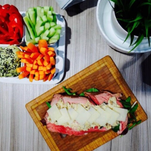 Menú picnic sándwich roastbeef y hummus