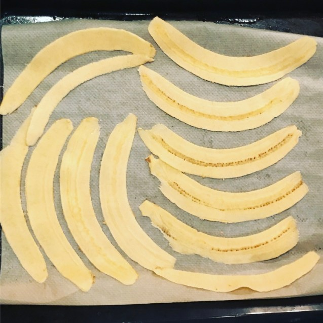 chips de plátano macho crujientes al horno