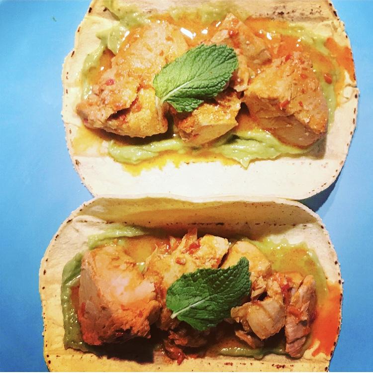 tacos de atun en mojo rojo hervido receta canaria