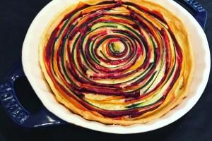receta quiche verduras multicolor