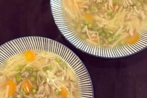 sopa pollo vegana jackfruit receta