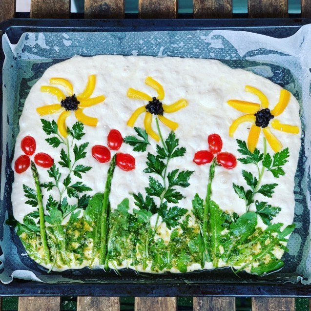 receta focaccia jardin flores
