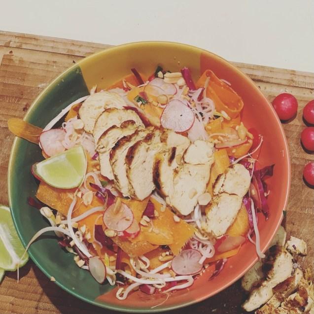 ensalada vietnamita fideos arroz vermicelli